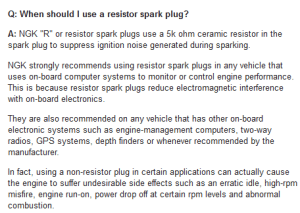 Mercury  NGK Outboard Motor Spark Plug Guide