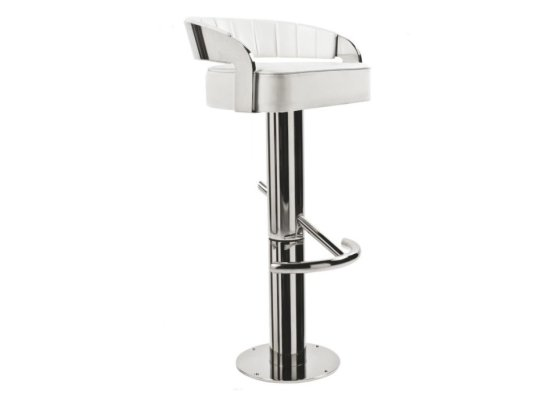 Bar stool in stainless steel