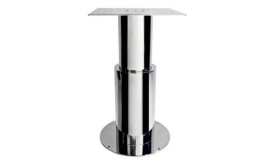 Electric table pedestal made in stainless steel