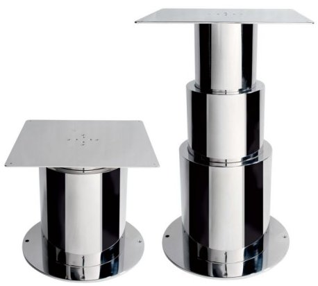 3 round stage electric table pedestal made in stainless steel