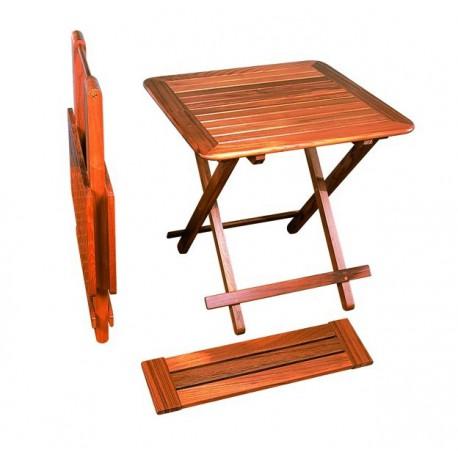 table pliante brest en teck avec rallonge