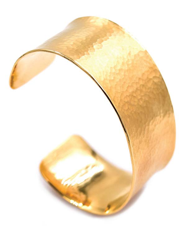 24K Gold Vermeil & Hammered Cuff by Lucas Priolo