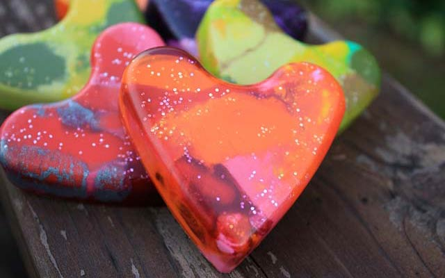 Create Your Own Heart Shaped Crayons For Valentines Day