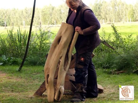 Photo Es entstehen ungeahnte natürliche Formen aus Holz!