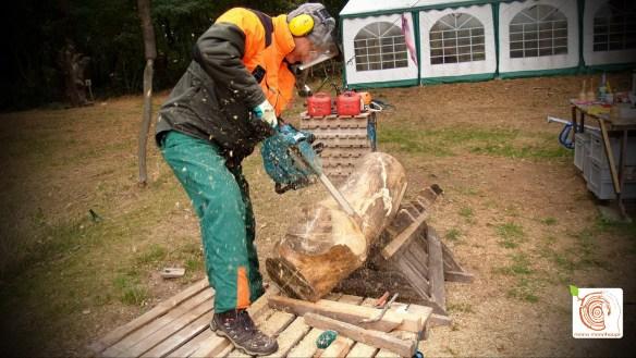 Erlebniswoche Holzbildhauerei auf dem Kreativplatz Luckenwalde