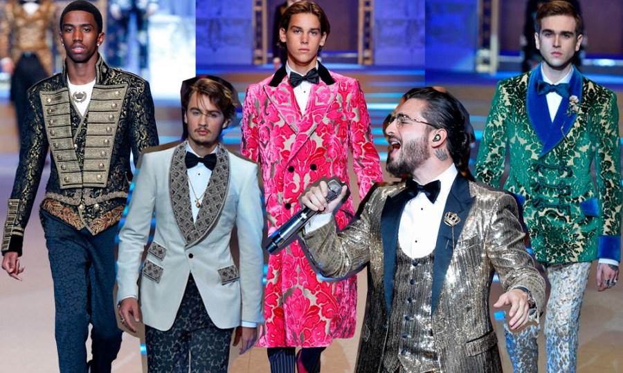 Dolce&#038;Gabbana Otoño/Invierno 2018<br>Millennials, hijos de famosos, Maluma&#8230; y la ropa