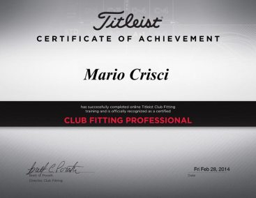 Titleist Certified Professional Fitter