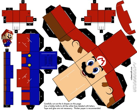 Origami Mario Characters Tutorial Origami Handmade