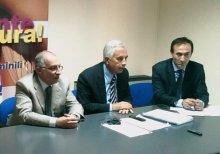 GULLI' CINQUE - la Commissione dell'Asp RC (da destra GULLI', CETOLA e CASTELLI)