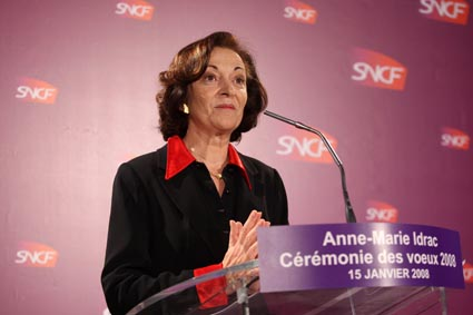 VOEUX DE LA PRESIDENTE DE LA SNCF ANNE MARIE IDRAC