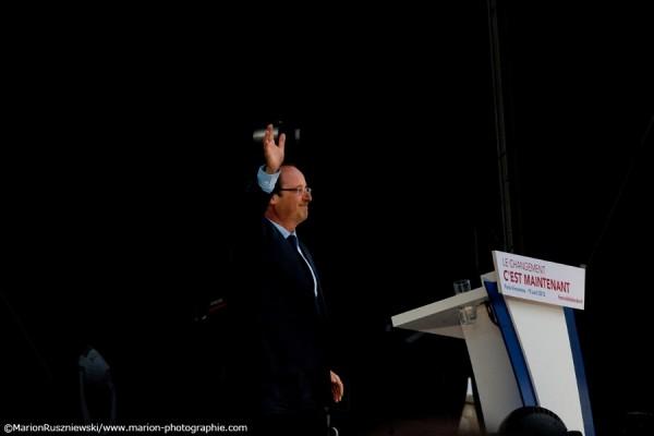 Grand Rassemblement de François Hollande - Esplanade du Château de Vincenneses