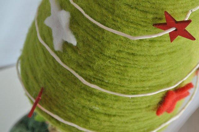 Albero di natale in feltro verde