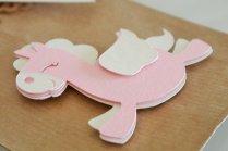 bomboniera sacchetto confetti battesimo cavallo alato rosa