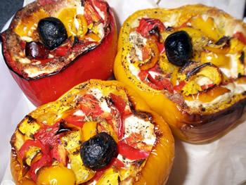 Sweet peppers stuffed with brandade de Nîmes