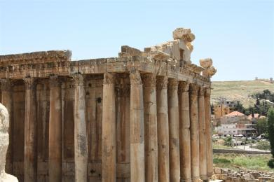 Photo of the temple of Bacchus at Baalbek