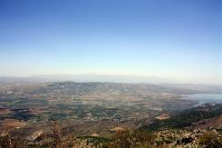 photo of the view of the Bekaa Valley