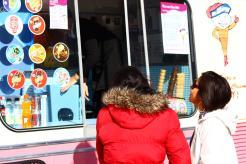 Ice cream truck in Liverpool