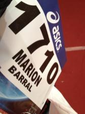 dossard de Marion Barral pour le marathon du Médoc 2013