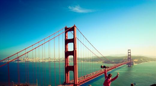 Marion Barral at Golden Gate Bridge