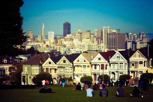 classic photo of some san francisco victorian houses