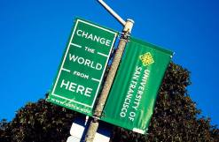 photo of the University of San Francisco signs