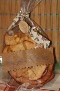 chips de pommes cannelle emballés