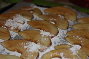photo de la préparation des chips de pomme avant cuissin