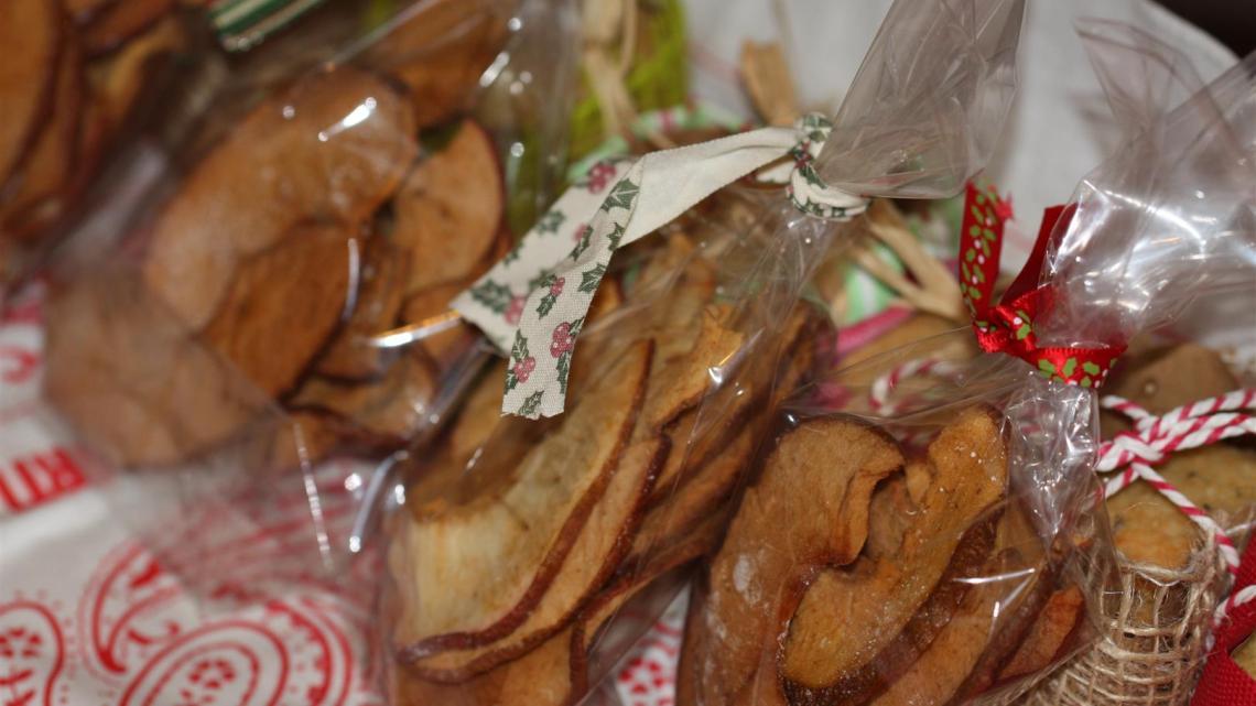 Chips de pommes-cannelle