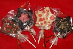 photo de sucettes en chocolat