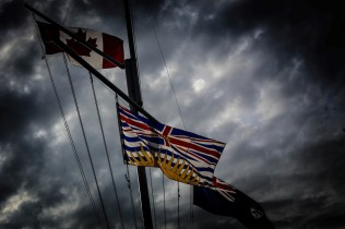 flags in Vancouver