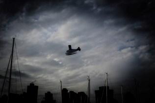 waterplane in the sky