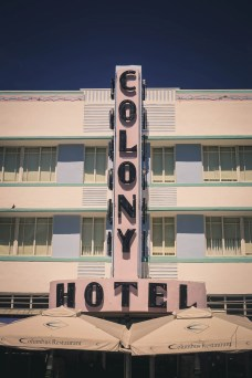 Colony Hotel in Miami Beach Art Deco District