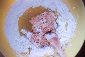 préparation de la pâte à tielle