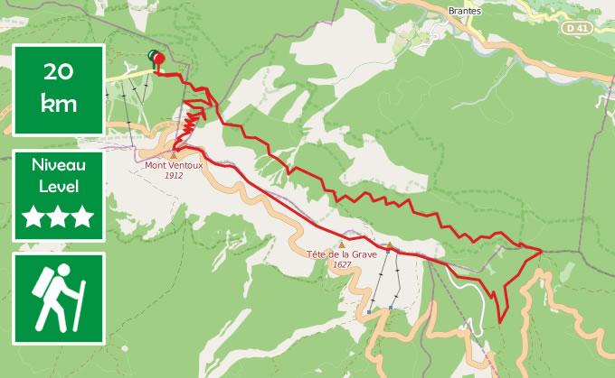 Randonnée 20 km au Mont Ventoux : itinéraire, photos et conseils