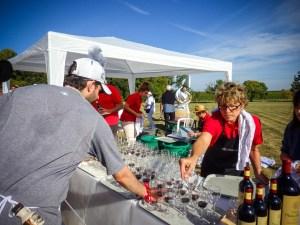 dégustation de vin au marathon du Médoc