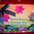 Bûche Granny Smith - Chocolat Noir - Crème Brûlée