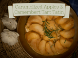 Caramelized Apples & Camembert Tart