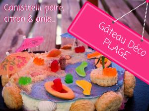 Photo d'un Gâteau decoration mer plage aux canistrelli poire citron anis