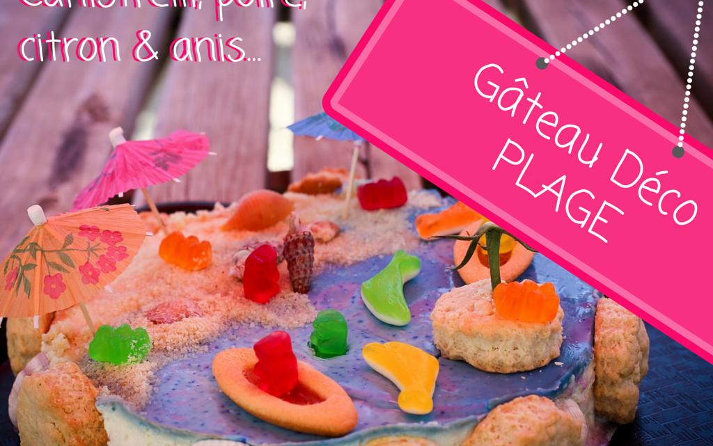 Ma derniere création : le gâteau décoration plage