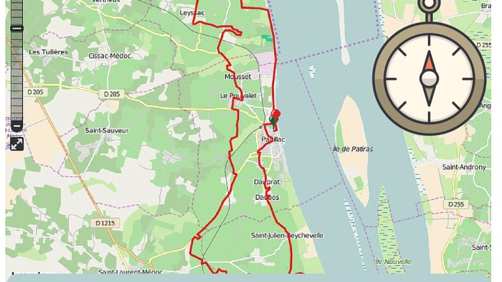 2016  Médoc Marathon route map (GPS Tracks)