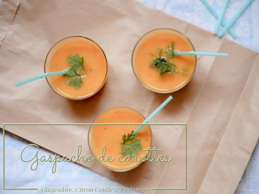 gaspacho de carottes gingembre citron confit coriandre