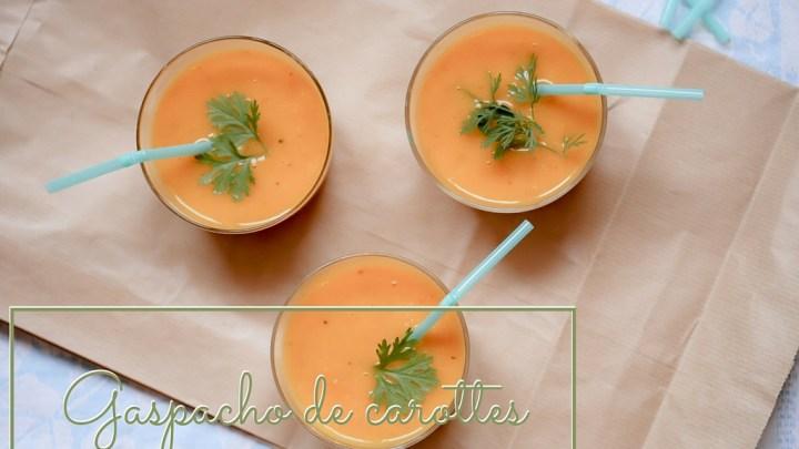 Gaspacho de carottes, citron confit et gingembre