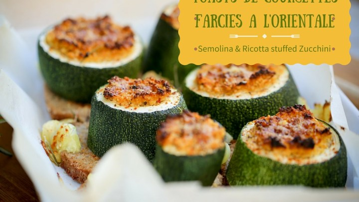 Toasts de courgettes farcies à l'orientale