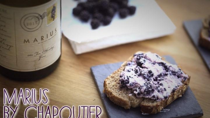 (Français) 1 recette 1 vin : Tartines chèvre/mûre + Marius by Chapoutier