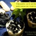 photo d'un tiramisu mures verveine - blackberries verbena tiramisu photo