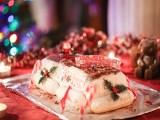 Bûche de Noël Tiramisu framboise