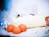 recette de bûche de noël glacée exotique coco orange mangue