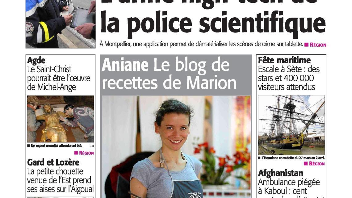 "La ""une"" du Midi Libre !"
