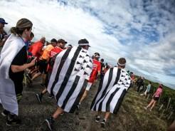Coureurs bretons costumés au marathon du médoc