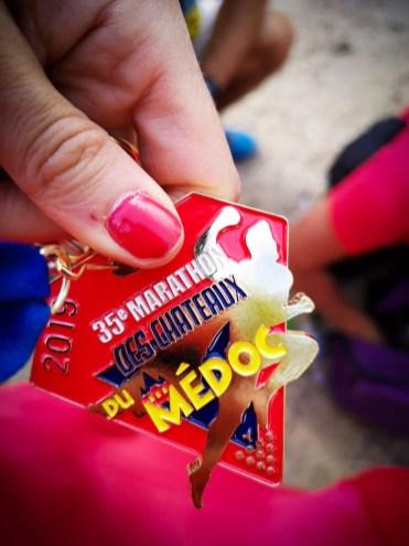 médaille du marathon du médoc
